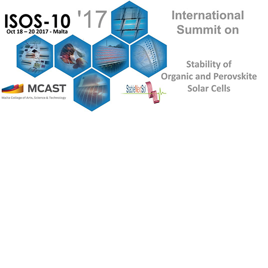 10th International Summit on Stability of Organic and Perovskite Solar Cells (ISOS-10)