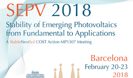 Stability of Emerging Photovoltaics: from Fundamentals to Applications (SEPV18) – Call for Abstracts