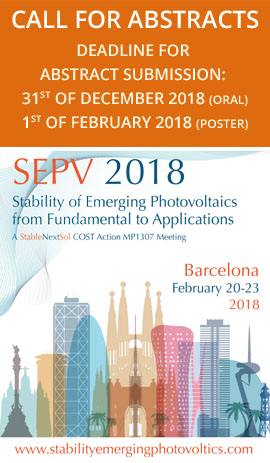 Stability of Emerging Photovoltaics: from Fundamentals to Applications (SEPV18))